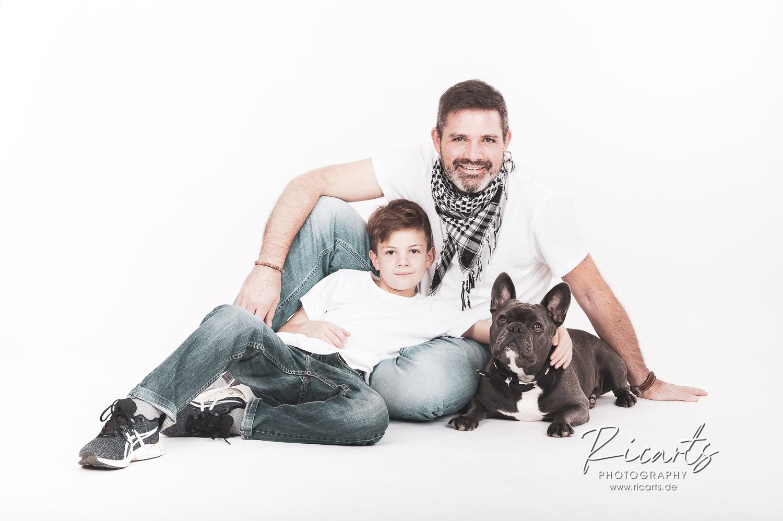 Familienfoto Mann mit Kind