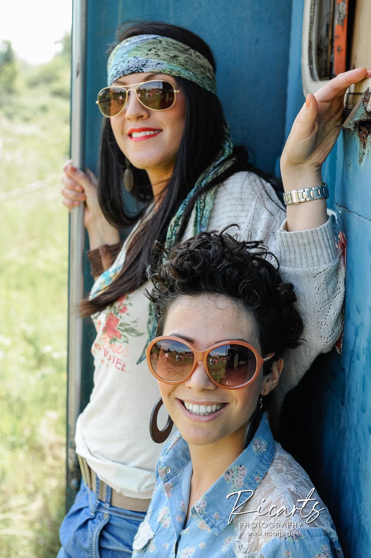 Portrait junge Frauen outdoor