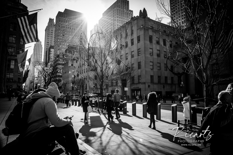 Fotografie-Lifestyle-Fussgänger in der Großstadt