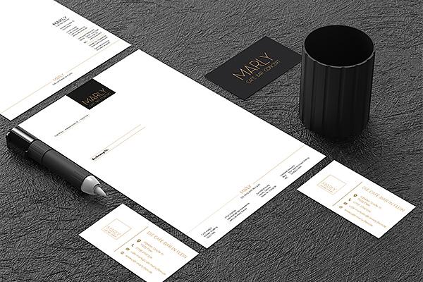 Visuelles-Kommunikationsdesign-cafe-marly-briefpapier-visitenkarte