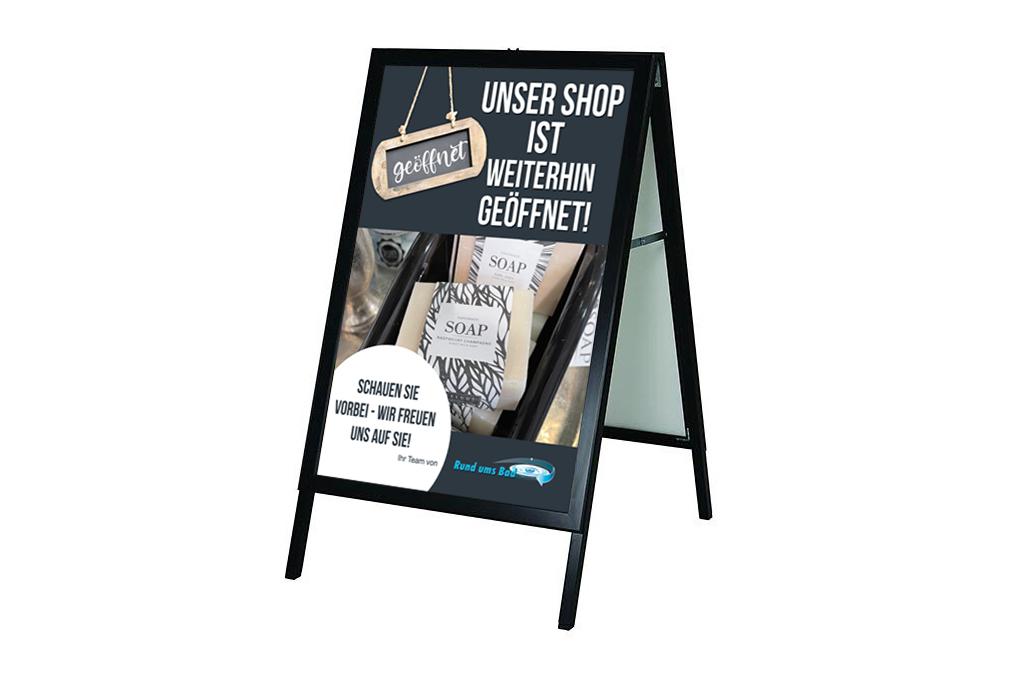 Plakat-in-Kundenstopper